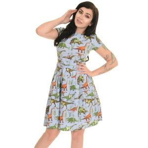 Run and Fly Dino Dress Vintage Inspired